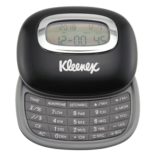 Calculator And World Time Clock