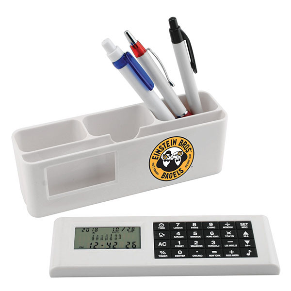 Desk Caddy With Removable Calculator