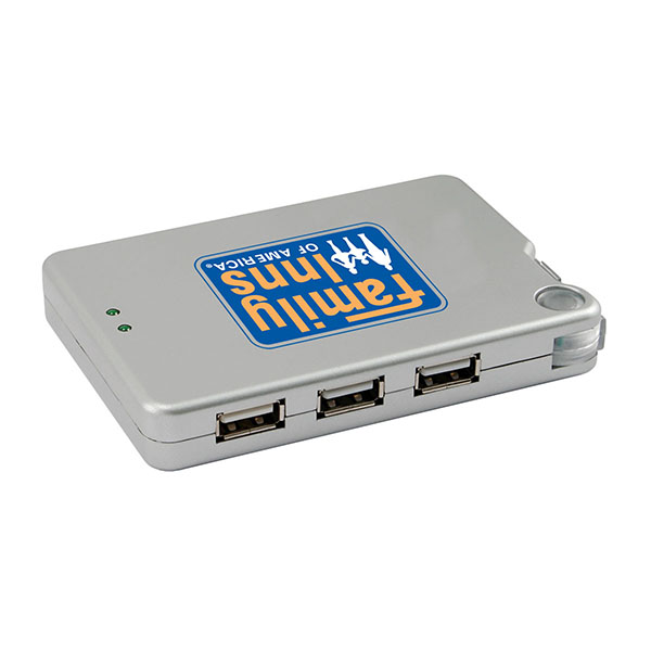 USB Hub With Built-in Memory Card Reader