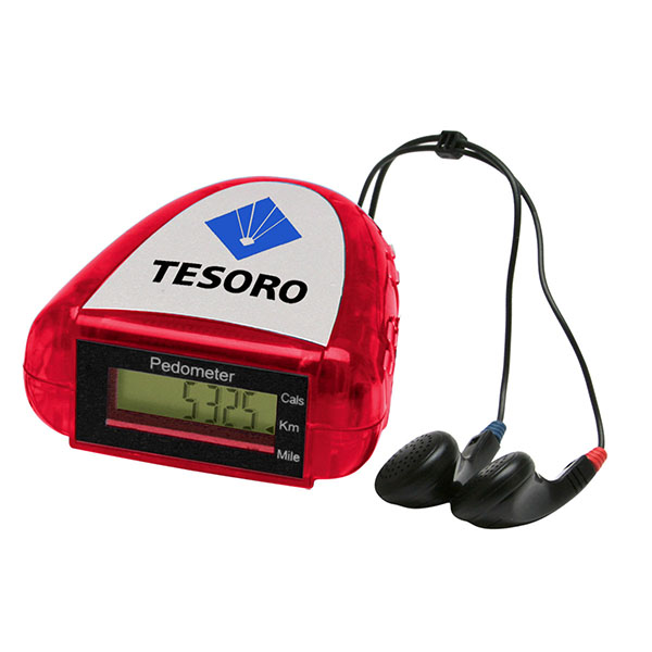Pedometer With FM Scanner Radio
