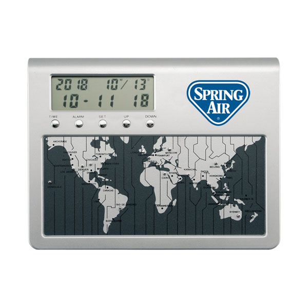 World Time Desk Clock