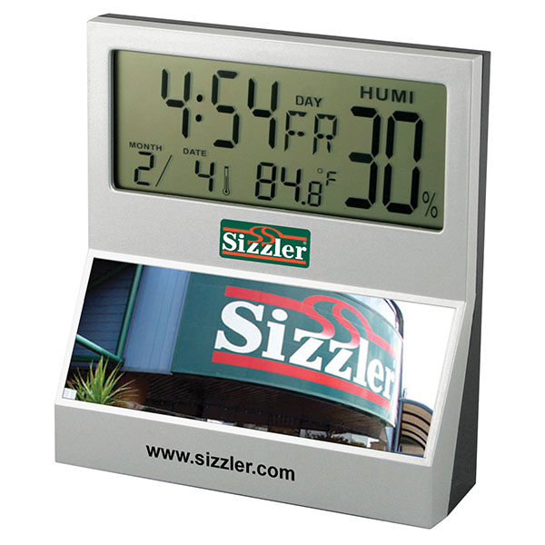 SpectraPrint+™ LCD Desk Clock