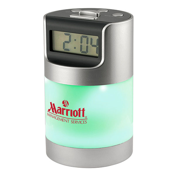 Talking LCD Alarm Clock With Desk Light