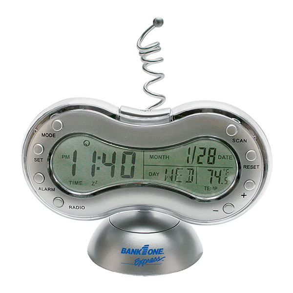 Fm Scanner Radio And Alarm Clock With Weather Station