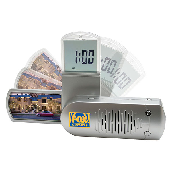 FM Scanner Radio With Alarm Clock And Photo Frame
