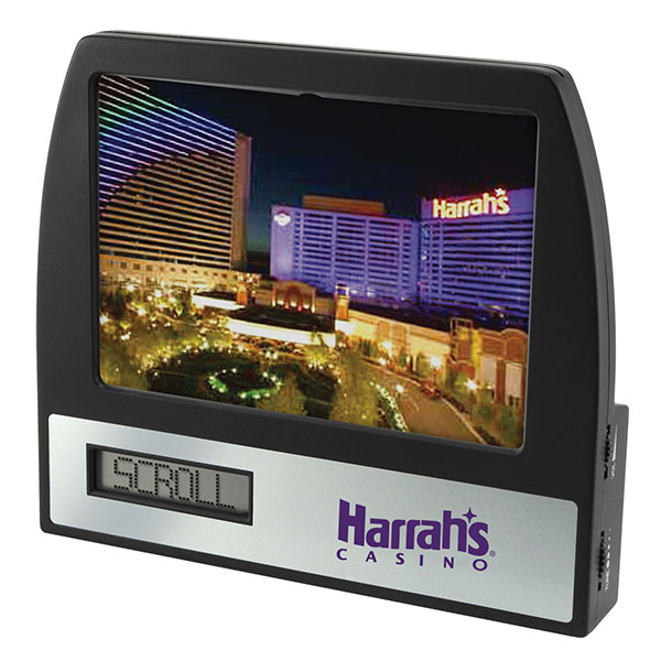 AM/FM Radio Clock Photo Frame With Scrolling Message