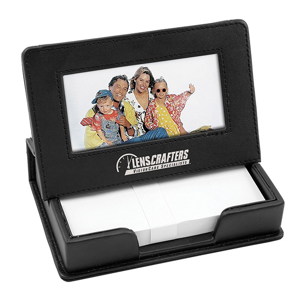 Leather Memo Box With Photo Easel