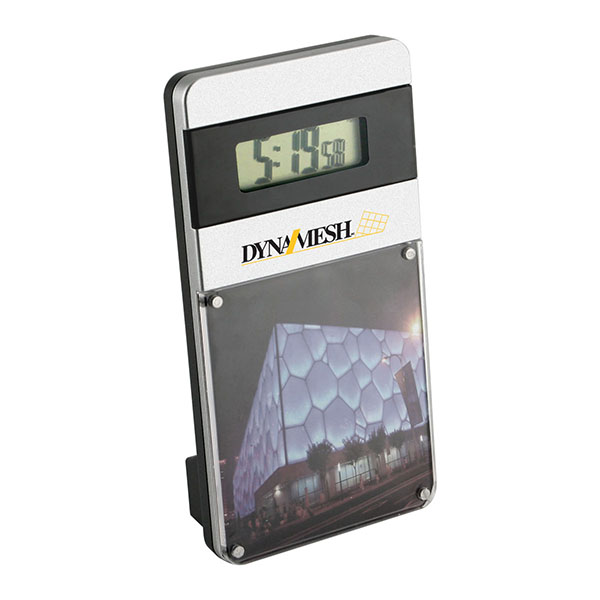 Magnetic Acrylic Photo Frame With Digital Clock