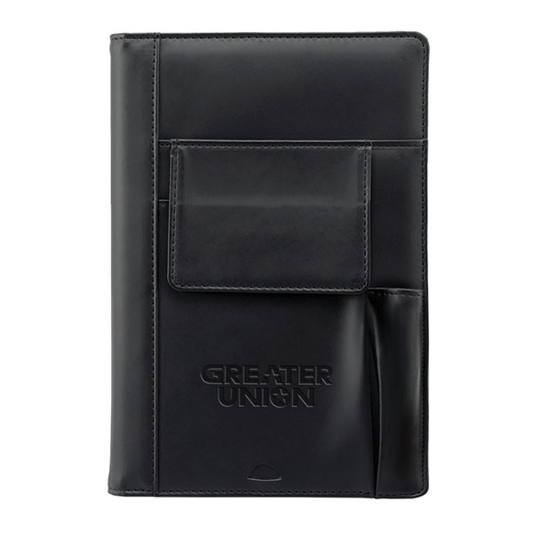 Refillable Journal With Phone And Pen Pocket