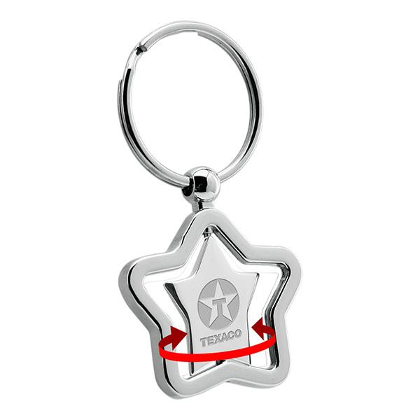 Star Swivel Metal Keychain