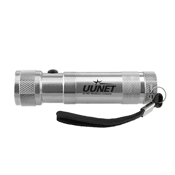 Metal LED Flashlight With Laser Pointer