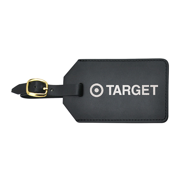 Leather Luggage Tag With Flap