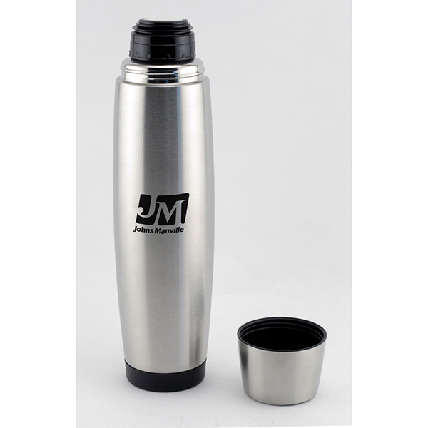 24 Oz. Stainless Steel Vacuum Flask With Lid/Cup