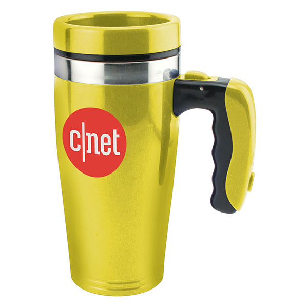 16 Oz. Double Wall Insulated Flashlight Mug