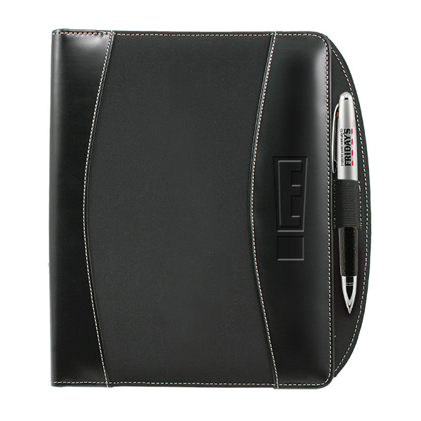 "This Attractively Priced Padfolio Features Padded Cover, File Pocket, 2 Card Pockets And Pen Loop With Ruled 5"" X 8"" Writing Pad."