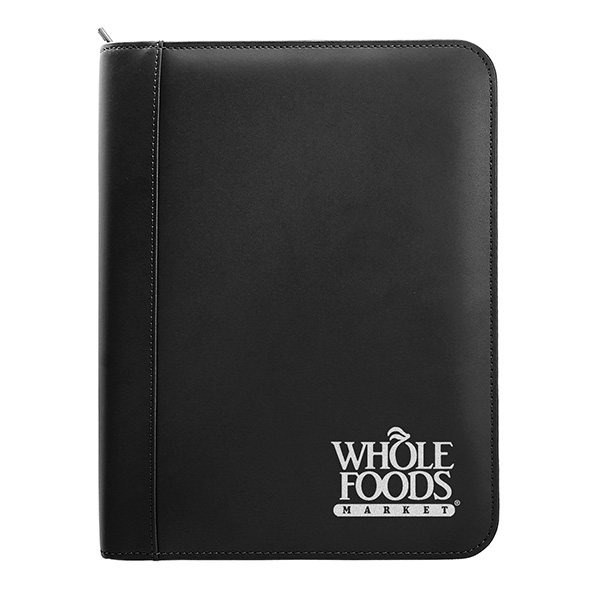 Classic Leather Ring Binder With Zipper (8 1/2